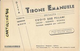 Scarpe Forniture Calzolai Cuoio Pellami Lucidi Pubblicita Piemonte Alessandria Via Vescovado - Negozi