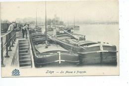Liège La Meuse à Fragnée ( Péniche ) - Luik