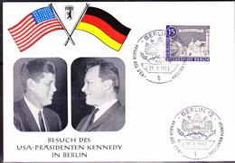 Berlin - Besuch Von J. F. Kennedy In Der Stadt (MiNr: 220) 1963 - Fotokarte - BRD