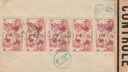 LETTRE. 29 8 45. VILMORIN PARIS POUR GENEVE CHICAGO ATATS-UNIS .  BANDE CENSURE   / 1 - 1921-1960: Periodo Moderno