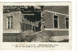 Carte Postale Ancienne Bienvillers Au Bois - Effet D'un Obus Allemand Sur Une Maison - Autres Communes