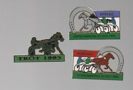 PIN'S GRAND NATIONAL DU TROT 1995..HIPPISME..CHEVAUX - Badges