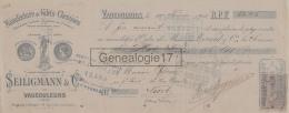 55 248 VAUCOULEURS MEUSE 1902 Chemises Gilets Flanelle SEILIGMANN Cie à FAIVRE - Bills Of Exchange
