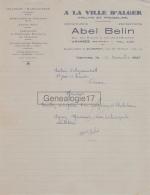 56 112 VANNES Et QUIBERON MORBIHAN 1933 Fruits Primeurs A LA VILLE D ALGER Ets ABEL BELIN Rue Des Halles - Saint Solomon - 1900 – 1949