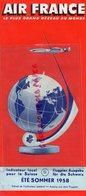 SUISSE- AVIATION- DEPLIANT AGENCE VOYAGES VERON-GRAUER GENEVE- AIR FRANCE-ETE 1958-ZURICH-NICE-JAPON-SAIGON-AMERIQUE- - Dépliants Touristiques