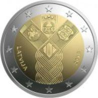 Letónia   2euro Cc - Centenario De La Fundación De Los Estados Bálticos Independientes  -  2018  UNC - Lettonie