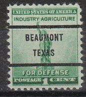 USA Precancel Vorausentwertung Preo, Bureau Texas, Beaumont 899-71 - Vorausentwertungen