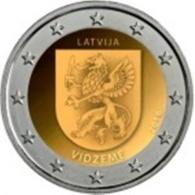 Letônia 2 Euro Cc ---Región De Vidzeme---2016 UNC - Lettonie