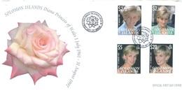 SOLOMON ISLANDS - FDC - 8.12.2007 - DIANA - Yv 1230-1233  - Lot 17536 - Salomon (Iles 1978-...)