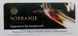 ROMANIA-CIGARETTES  CARD,NOT GOOD SHAPE-0.90 X 0.40 CM - Tabac (objets Liés)