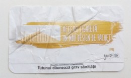 ROMANIA-CIGARETTES  CARD,NOT GOOD SHAPE-0.90 X 0.46 CM - Tobacco (related)
