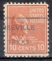 USA Precancel Vorausentwertung Preo, Locals Texas, Beeville L-1 HS - Vorausentwertungen