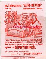 81-SENOUILLAC- RARE BUVARD LABORATOIRES SAINT MEDARD- VETERINAIRE- DIPHTERINOL POULE COQ VOLAILLE - Buvards, Protège-cahiers Illustrés