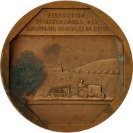 France, Médaille, Fédération Des Exploitants Agricoles De L'Oise, TB+, Bronze - France