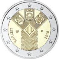 Lituânia   2euro Cc - Centenario De La Fundación De Los Estados Bálticos Independientes  -  2018  UNC - Lituanie