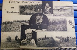 Cpa  WW1 LES GENERALISSIMES 1914 JOFFRE FRENCH GRAND DUC NICOLAS DE RUSSIE REGIMENT SOLDATS  POILUS     WWI - Guerre 1914-18