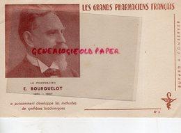 08- JANDUN-CHARLEVILLE-PARIS- BUVARD EMILE BOURQUELOT-PHARMACIEN CHIMISTE MYCOLOGUE-NE A JANDUN 1851-1907- - P