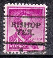 USA Precancel Vorausentwertung Preo, Locals Texas, Bishop 701 - Vorausentwertungen