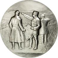 France, Médaille, Le Général Mangin Devant Douaumont, Pillet, FDC, Silvered - France