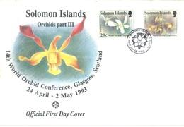 SOLOMON ISLANDS - FDC - 24.4.1993 - ORCHIDS - Yv 786-787 - Lot 17539 - Salomon (Iles 1978-...)