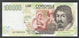 100000 Lire CARAVAGGIO 2° TIPO SERIE D 1997 Fds LOTTO 2027 - 100.000 Lire