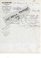 59 - Nord - BOUSBECQUE - Facture RAVAUT-PITRE - Charpente, Menuiserie, Meubles - 1920 - REF 99B - France