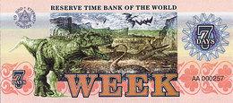 Banque Mondiale De Réserve Du Temps 7 Jours Série A-101 UNC - Specimen