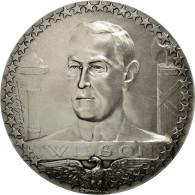 France, Médaille, Première Guerre Mondiale, Wilson, Grégoire, SPL+, Silvered - France
