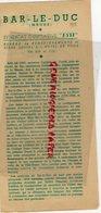55 - BAR LE DUC- DEPLIANT TOURISTIQUE SYNDICAT INITIATIVE -IMPRIMERIE DU BARROIS BAR- 1956 - Dépliants Touristiques