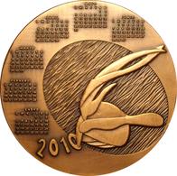 ESPAÑA. MEDALLA F.N.M.T. CALENDARIO AÑO 2010. BRONCE. MUY RARA. ESPAGNE. SPAIN MEDAL MEDAL - Profesionales/De Sociedad