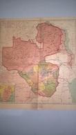 Carte Rhodésie / Rhodesia  Sous Administration De La British South Africa Company BSAC - 1890 - 43 X 48 Cm - Cartes Géographiques