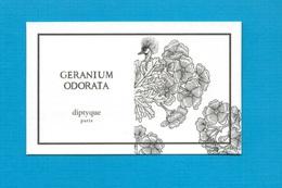 Cartes Parfumées   Carte GÉRANIUM ODORATA  De DIPTYQUE - Modern (from 1961)