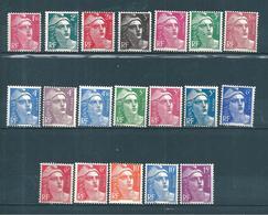 France Timbres De 1945/47 Marianne De Gandon N°712 A 724 Série Complète Neufs ** - 1945-54 Marianne (Gandon)