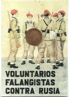 ESPAÑA VIÑETA TAMAÑO POSTAL DIVISION AZUL RUSIA - Army & War