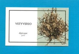 Cartes Parfumées   Carte  VETYVERIO   De DIPTYQUE - Modern (from 1961)