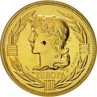 France, Médaille, Ecu Europa, Marianne, 1987, Rodier, FDC, Gilt Bronze - France