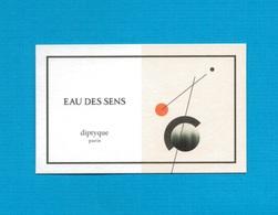 Cartes Parfumées   Carte  EAU DES SENS    De DIPTYQUE - Modern (from 1961)