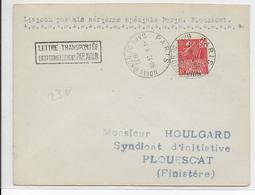 1931 - LETTRE Par AVION De PARIS => PLOUESCAT - LIAISON POSTALE AERIENNE SPECIALE - Luchtpost