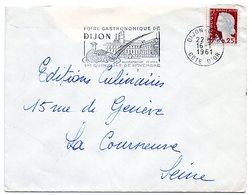 OISEAU / FAISAN = 21 DIJON 1961 = FLAMME Non Codée = SECAP Illustrée 'FOIRE GASTRONOMIQUE ALIMENTATION + VINS' - Postmark Collection (Covers)