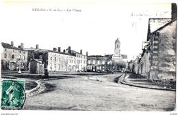Vezins Maine Loire Place Pesage Voie Ferrée 1916 état Superbe - Autres Communes