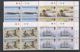 Falkland Islands 1999 Californian Gold Rush 4v  Bl Of 4  (corners) ** Mnh (39606B) - Falklandeilanden