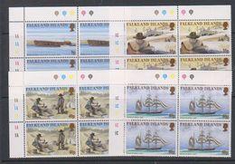Falkland Islands 1999 Californian Gold Rush 4v  Bl Of 4  (corners) ** Mnh (39606C) - Falklandeilanden