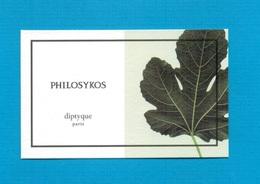 Cartes Parfumées   Carte  PHILOSYKOS    De DIPTYQUE - Modern (from 1961)