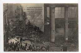 CPA SAINT-QUENTIN (02) - Incendie Des Etablissements SERET Frères 1908 - Effondrement De La Façade, Rue Sous-Préfecture - Saint Quentin