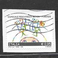 Italia 2016  125° Anniversario Inaugurazione Ospedale Pediatrico Meyer Di Firenze  Valore Usato (0,95 Euro) - 6. 1946-.. Repubblica