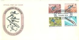 SOLOMON ISLANDS - FDC - 4.6.1979 - SOUTH PACIFIC GAMES - Yv 371-374 - Lot 17541 - Salomon (Iles 1978-...)