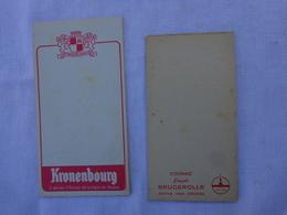 Lot De 2 Carnets De Bloc - Kronenbourg Et Cognac Leopold Brugerolle Matha Pres De Cognac .lot 2 - Alcools