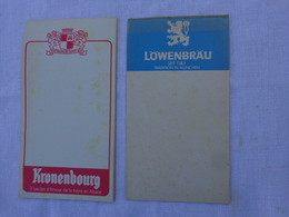 Lot De 2 Carnets De Bloc -incomplet- Kronenbourg Et Lowenbrau Seit 1383 Tradition In Munchen .lot 3 - Alcools