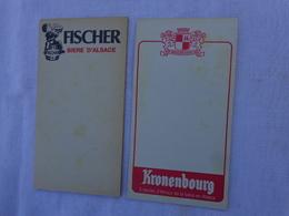 Lot De 2 Carnets De Bloc -incomplet- Kronenbourg Et Fischer Biere D'alsace.lot 4 - Alcoholes