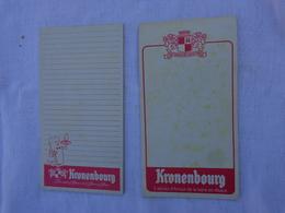 Lot De 2 Carnets De Bloc -peut Etre Incomplet- Kronenbourg  (differents)lot 6 - Alcolici